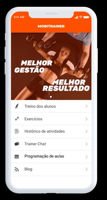 Detalhes do aplicativo para academia e personal trainer